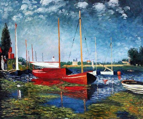 Monet Boats At Argenteuil by Overstockart Shop Tab