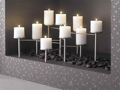 fireplace candle holders candle displays for fireplaces 12 lovely designs and ideas