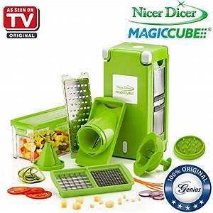 Nicer Dicer Tv Angebot : nicer dicer magic cube by genius 13 pieces fruit and vegetable slicer as seen on tv ~ Watch28wear.com Haus und Dekorationen