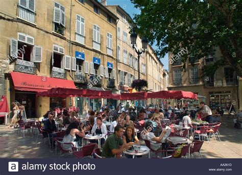 restaurant pates aix en provence restaurant in the town aix en provence stock photo royalty free image 665117 alamy