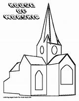 Church Coloring Pages Drawing Outline Printable Children Print Adults Popular Getdrawings Coloringhome Books sketch template