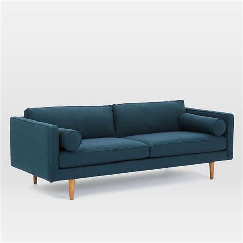 mid century loveseat mid century sofa 80 quot west elm