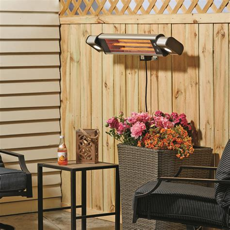 profusion heat wall mount indoor outdoor heater with led