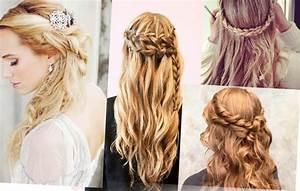 Coiffure Tresse Facile Cheveux Mi Long : coiffure femme cheveux long facile tresse ~ Melissatoandfro.com Idées de Décoration