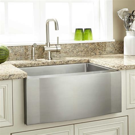 stainless steel farm sink 27 quot optimum stainless steel farmhouse sink wave