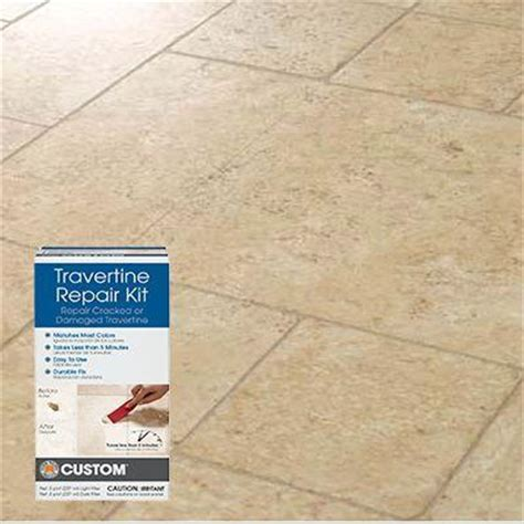 tile flooring repair kit how to repair travertine tile the home depot community
