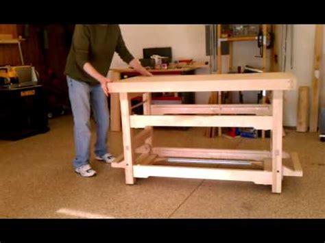 workbench  drop caster wheels youtube