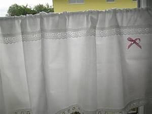 Shabby Chic Gardinen : gardinen scheibengardinen shabby chic ein designerst ck von schmetterling06 bei dawanda ~ Eleganceandgraceweddings.com Haus und Dekorationen