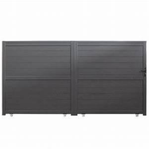 Portail Alu 3m : portail aluminium coulissant 3m spring portillon ~ Edinachiropracticcenter.com Idées de Décoration
