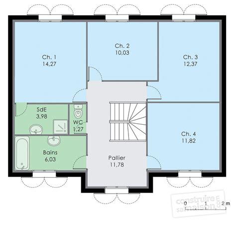plan maison etage 2 chambres plan maison 4 chambres 1 etage