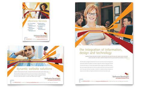 Software Brochure Template by Software Developer Flyer Ad Template Design