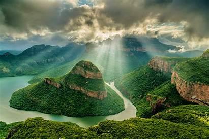 Blyde Canyon River Africa Mpumalanga South Nature