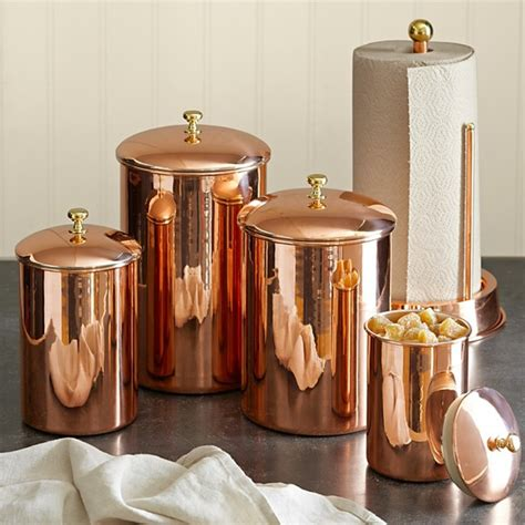 copper kitchen canisters copper canister traditional kitchen canisters and jars