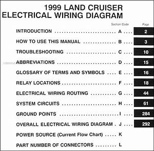 1999 Toyota Land Cruiser Electrical Wiring Diagram Manual