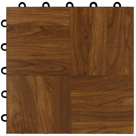 lowes parquet flooring shop greatmats maxtile 26 pack 12 in x 12 in dark oak parquet loose lay wood vinyl plastic tile