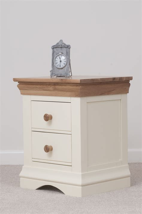 country cottage painted funiture bedroom cream bedside