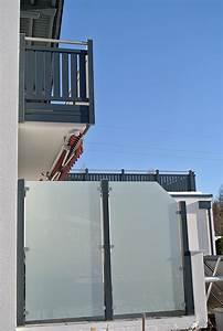 Sichtschutz Balkon Glas : z une sichtschutz von hiag balkonbau ~ Indierocktalk.com Haus und Dekorationen