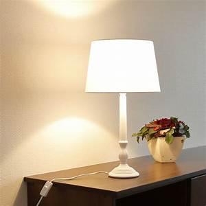 Lampe Mit Stoffschirm : tischlampe wei mit stoffschirm wohnlicht ~ Indierocktalk.com Haus und Dekorationen