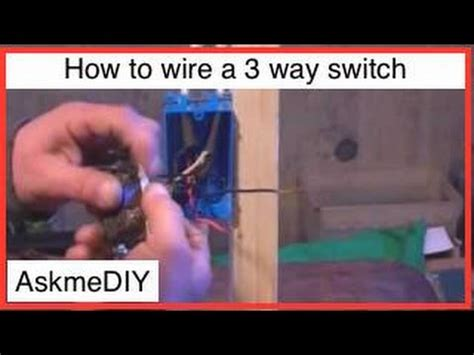 how do you wire a light switch how to wire a 3 way switch youtube