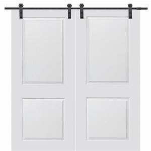 mmi door 60 in x 80 in primed cambridge smooth surface With 60x80 barn door