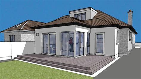 semi detached dormer bungalow rear extension dublin     bungalow extensions