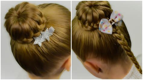Lace Braided Bun. Quick And Easy Hairstyle For