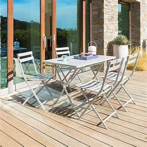 Table De Balcon Pliante : table de balcon pliante rectangulaire greensboro galet hesp ride 4 places ~ Teatrodelosmanantiales.com Idées de Décoration