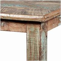 distressed wood dining table Rustic Reclaimed Wood Distressed Small Kitchen Dining Table