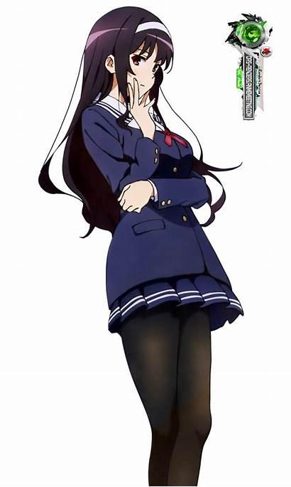 Anime Saekano Pose Utaha Thinking Kasumigaoka Render