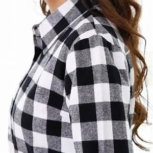 chemise a carreaux noir et blanc femme chapka doudoune With pull carreaux noir et blanc