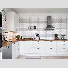 A White Tiles, Black Grout Kind Of Kitchen  Coco Lapine