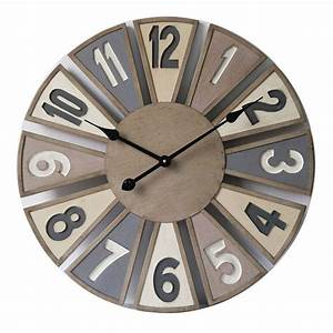Horloge Murale En Bois Diamtre 60 Cm Dya Shoppingfr
