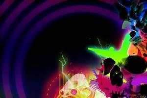 Neon Skull by partyboy9289 on DeviantArt