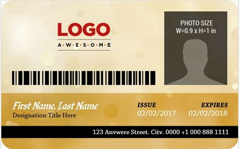 Photo Id Badges Templates by Ms Word Photo Id Badge Sle Template Word Excel