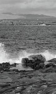 Portnoo Coastline Donegal Bw Photograph by Eddie Barron