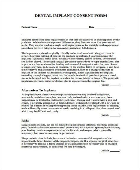 free 40 free consent form sles pdf