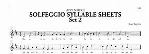 How to write solfege