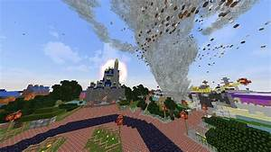 Minecraft TORNADO VS DISNEYLAND MAP Minecraft Tornado