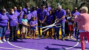 Renovated Basketball Court Opens At Alexander Park