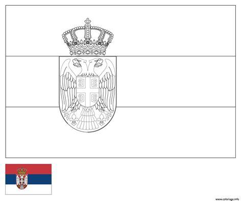 coloriage drapeau serbie dessin