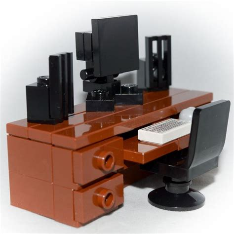 best desk for monitors 25 best ideas about lego furniture on lego 7674