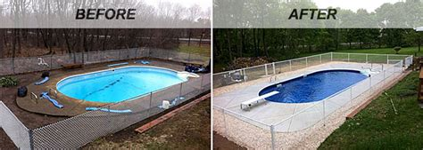 pool before and after swimming pool renovations before and after intheswim pool blog