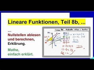Lineare Funktionen Nullstellen Berechnen : nullstellen bestimmen ablesen und berechnen lineare funktionen erkl rung teil 8b youtube ~ Themetempest.com Abrechnung