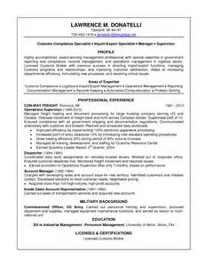 free resume template sles customs officer resume