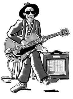 bluesman | Blues and Soul | Blues music, Blue tattoo, Blue art