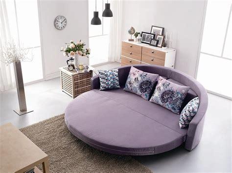 canapé lit rond rond confortable canapé lit avec coussin coloré couleur