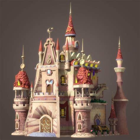 cartoon castle cgtrader