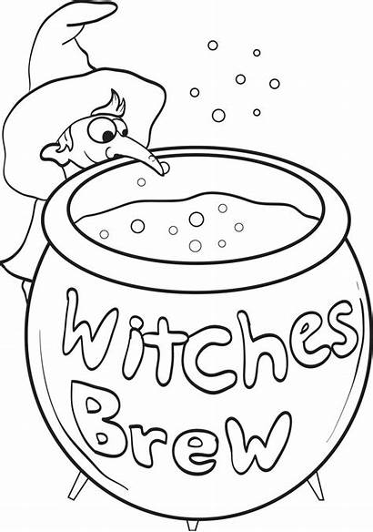 Coloring Pages Witch Witches Printable Brew Colouring