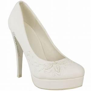 Weiße Schuhe Damen Hochzeit : womens damen hochzeit braut high heel wei e schuhe stilettos plattformen prom ebay ~ Eleganceandgraceweddings.com Haus und Dekorationen