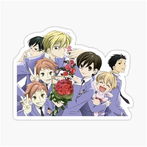ouran host club stickers redbubble